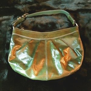 NWOT COACH Green Patent Leather hobo